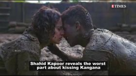 Shahid Kapoor opens up about kissing Kangana Ranaut in 'Rangoon'