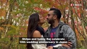 Shilpa Shetty and hubby Raj Kundra celebrate 10 years of married bliss in Japan, seal the deal with a kiss