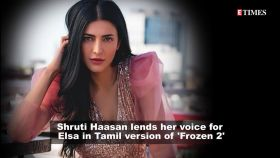 Shruti Haasan channels her inner princess as she lends voice for Elsa in Tamil version of 'Frozen 2'
