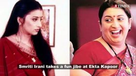 Smriti Irani takes a fun jibe at bestie and 'Kyunki' producer Ekta Kapoor