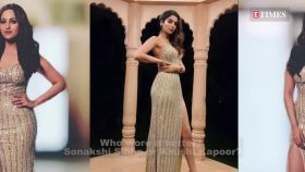 Sonakshi Sinha and Khushi Kapoor slay in similar thigh-high slit gown