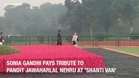 Sonia Gandhi pays tribute to Pandit Jawaharlal Nehru on his birth anniversary
