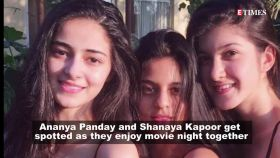 Spotted: Ananya Panday and Shanaya Kapoor enjoy movie night together