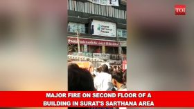 Surat fire: Students trapped in blaze at tution centre jump from 2nd floor