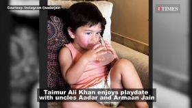 Taimur Ali Khan enjoys play-date with uncles Aadar and Armaan Jain