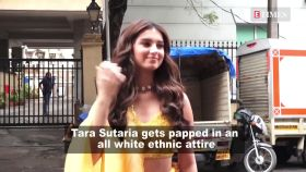 Tara Sutaria looks bedazzling in all-white ethnic attire