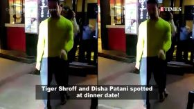 Tiger Shroff and Disha Patani spotted at dinner date!
