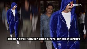 Toddler gives Ranveer Singh a royal ignore, refuses to shake hand; Janhvi Kapoor does all the talking with her eyes in these pics, and more…
