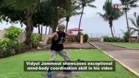 Vidyut Jammwal showcasing mind-body coordination skill in his latest video will make your jaw drop