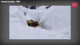 Watch: Amid Covid 19 crisis BRO undertakes snow clearance operations on Manali - Leh axis