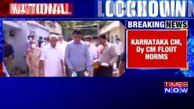 Watch: Karnataka CM flouts norms of social distancing, distributes free milk