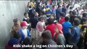 Watch: Kids shake a leg on Children's Day