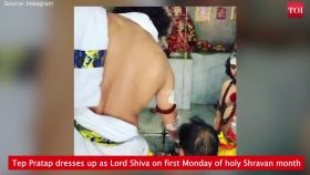 Watch: Lalu Yadav's son dresses up as Lord Shiva