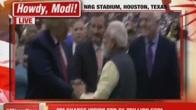 Watch: PM, Trump walk around NRG stadium after 'Howdy Modi' event