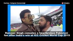Watch: Ranveer Singh consoles Pakistani fan after India's win in the ICC cricket World Cup 2019