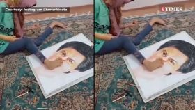 Watch: Shah Rukh Khan's 'special' fan brings 'King Khan' alive on canvas differently