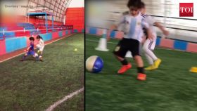 Watch: Six-year-old Iranian boy Arat Hosseini who has already become a football star