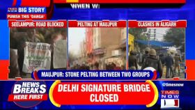 Watch: Visuals from Maujpur, Delhi where anti-CAA protests turned violent