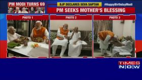 Birthday celebrations: PM Narendra Modi turns 69, reaches mother's house to seek blessings