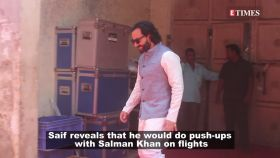 Here's what Saif Ali Khan and Salman Khan did on flights to remain fit