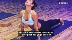 Malaika Arora flaunts post yoga session glow with a boomerang video