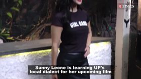 Sunny Leone's desi avatar for 'Kokokola', learning UP's local dialect