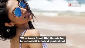 TV actress Donal Bist looks glamorous as she flaunts her svelte figure on camera
